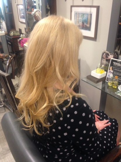 Beautiful hair gratis - thank you Pure Hair and Spa.